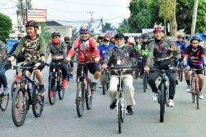 Fachrori Ikuti Sepeda Santai Gowes Sinergitas Hari Bhayangkara ke-74