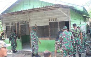 Janda Veteran Dapat Bedah Rumah dari Kodim 0415 Batanghari