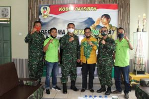 Sambut Kunjungan PWI Batanghari, Dandim 0415/BTH Ajak Sinergi