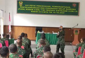Sosialisasi dan Uji Petik P4GN di Kodim 0415/BTH Berjalan Lancar