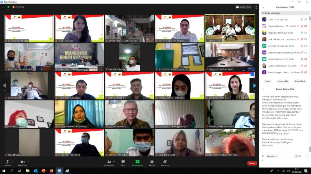 SKK Migas-Petrochina Gelar Workshop Perkuatan Kerja Sama Pencegahan Covid-19