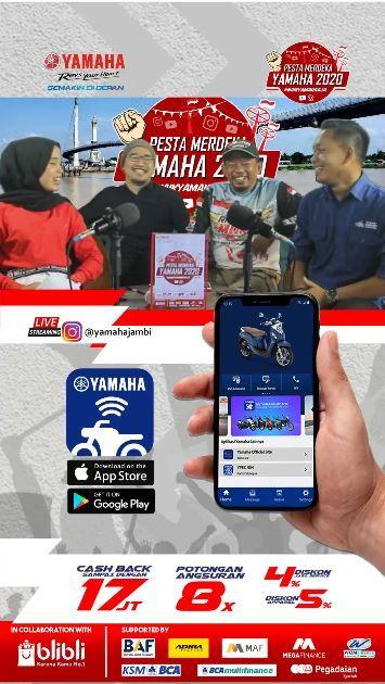 Yamaha Jambi Sukses Adakan Pesta Merdeka HUT Kemerdekaan Ke-75 RI Secara Virtual