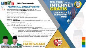 Internet Gratis Desa-Kota dalam Provinsi Jambi, Dumisake Haris-Sani