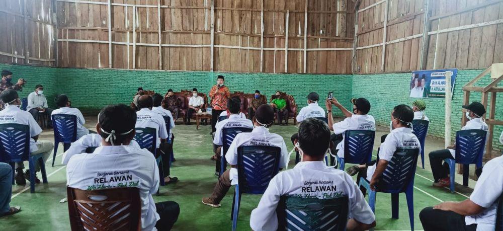 Patuhi Protokol Kesehatan, Pelantikan Tim Pemenangan Haris-Sani Dibagi 2 Sesi