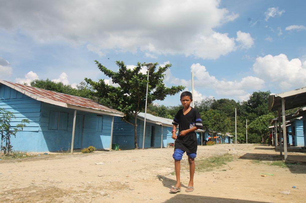 Pemukiman SAD di Desa Dwi Karya Kecamatan Pelepat Kabupaten Bungo yang dibangun Kemensos tahun 2014.
