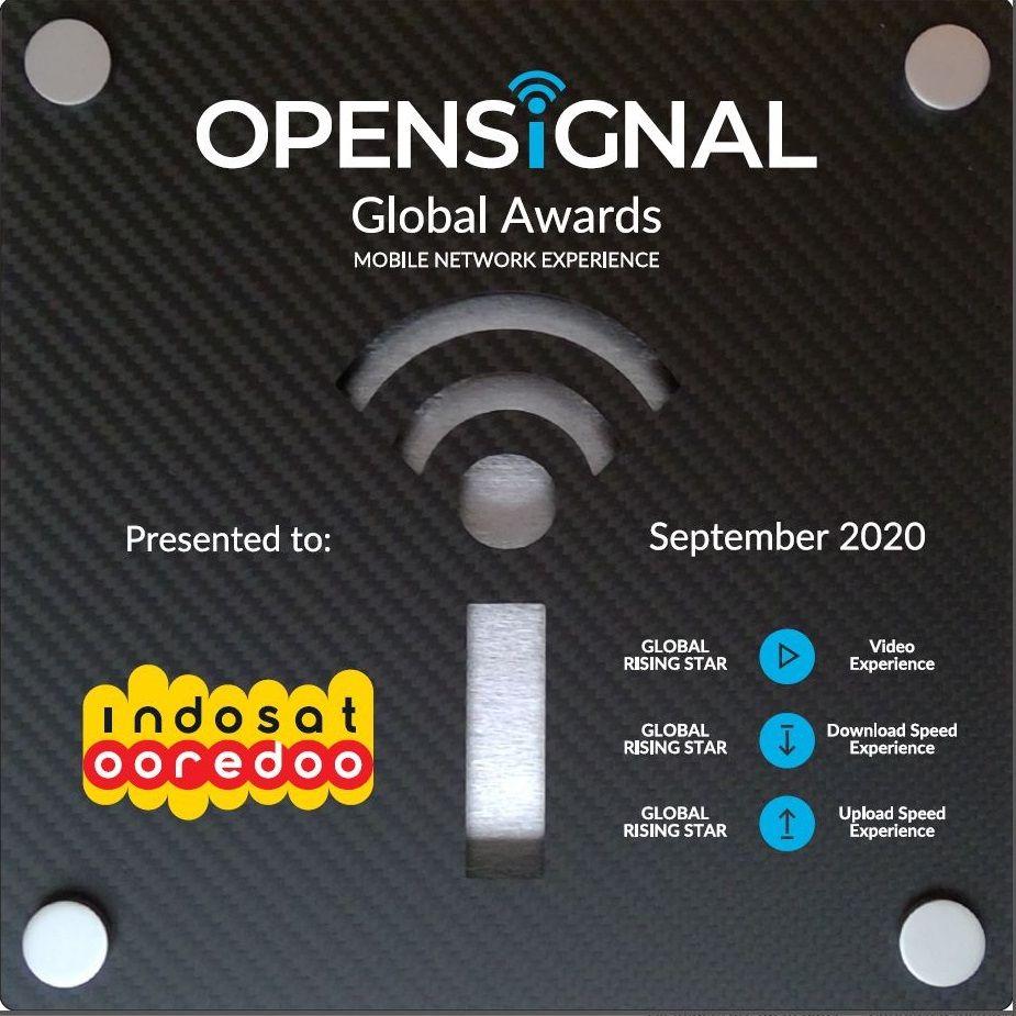 Indosat Ooredoo Jadi Global Rising Star untuk Pengalaman Video dari Opensignal