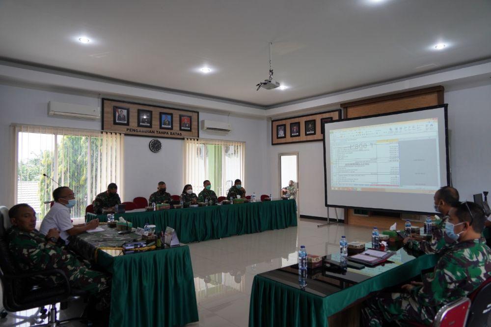 Danrem Terima Paparan Renbang Makorem 042/Gapu dari Ketua Tim PPK PUPR Provinsi Jambi