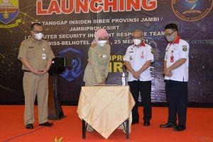 Pj. Gubernur Launching Tim Tanggap Insiden Siber Provinsi Jambi