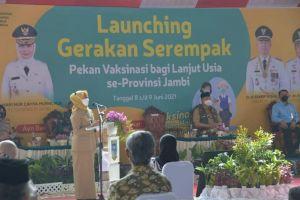Pj. Gubernur Launching Gerakan Serempak Pekan Vaksin Lansia se-Provinsi Jambi