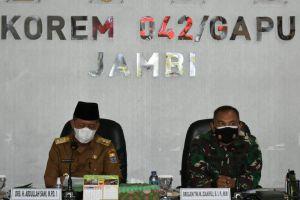 Cari Solusi Permanen Penanganan Karhutla di Provinsi Jambi, Korem 042/Gapu Gelar FGD