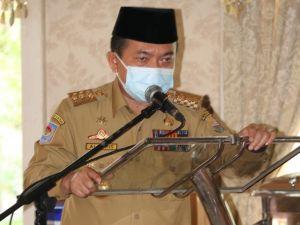 Gubernur Pimpin Rapat Penanggulangan Covid-19 di Tanjab Timur