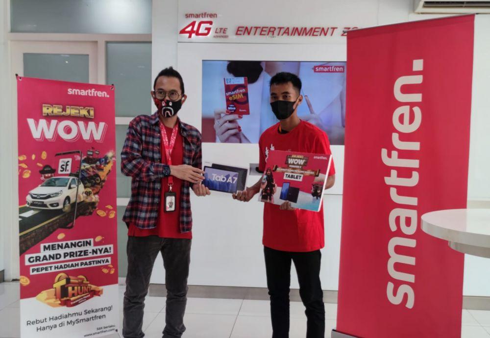Agus Nurhadi, Pemenang hadiah tablet treasure hunt periode 2 dari Palembang.
